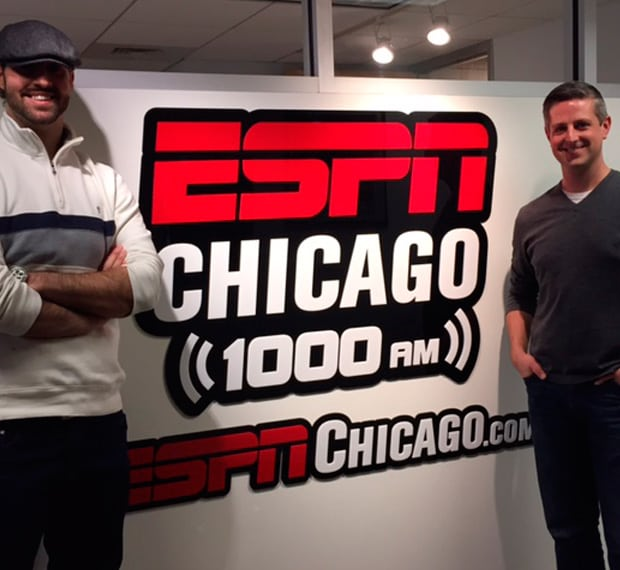 Photo of Chauncey and Aric at ESPN for website